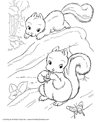 Playful Squirrels Coloring Pages Squirrel Coloring Page And Kids