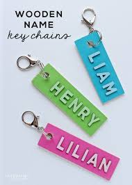 these wooden name keychains are an easy craft project and the perfect back to