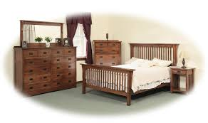 Mission Style Bedroom Furniture Full Mission Style Frame Bed With Headboard Footboard Slat