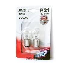 """<b>Лампа</b> подсветки <b>P21</b>/<b>5W</b> 12V 21/5W """"<b>AVS</b>"""" <b>Vegas</b> (BAY15D) (2 шт.)"""