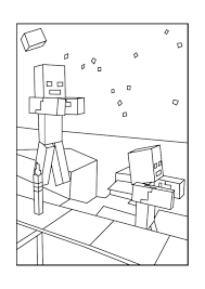 Zombie Minecraft Coloring Pages Free Printable Minecraft Coloring