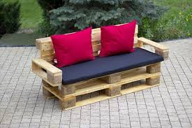 recycled pallet patio furniture. recycled pallet cushioned outdoor bench patio furniture