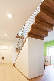Die treppe ist mit einem schrank unterbaut, der als schuhschrank genutzt wird. Treppen Mit Unterbau Fur Zusatzlichen Stauraum Und Platz