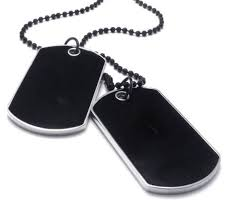 men s simple army military alloy id 2 dog tags pendant necklace chain for gift