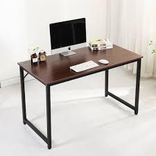 com soges computer desk 47 sy office meeting training desk writing desk workstation computer table gaming desk wulnut jj t 120 office