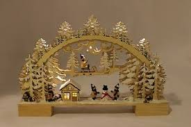 Schwibbogen Kinder G480584 Holz Weihnachten Fensterdeko Led