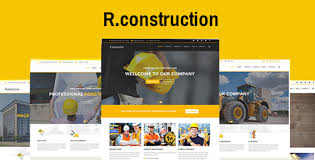 Business Website Templates Magnificent Rconstruction Construction HTML Template Construction Business