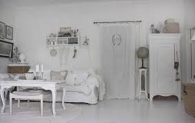 total white shabby shic living room