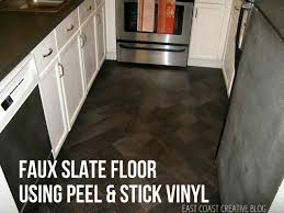 we have to say that this floor is one of our favorite projects to date we transformed this dated floor into an expensive slate look alike