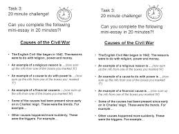 in a civil war broke out in england ppt causes of the civil war causes of the civil war
