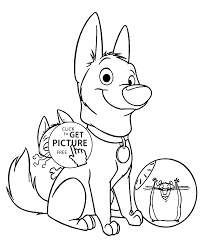 Bolt Characters Coloring Pages For Kids Printable Free