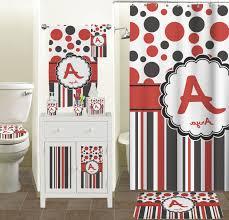 bathroom wall decor. Full Image Bathroom Red And Black Wall Decor Transparent Plastic Curtain Steel Bar Pole Added Soft B