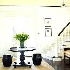 round entryway table round entryway tables five ways to style an entry round foyer for most