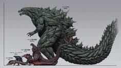 Godzilla Chart Godzilla Size Chart Godzilla Tattoo Godzilla Godzilla 2