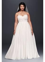 faille empire waist plus size wedding dress david s bridal