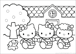 Free Printable Hello Kitty Coloring Pages Page Colouring Seaahco