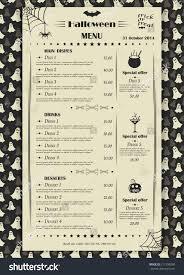 Halloween Menu Design Vector Halloween Restaurant Cafe Menu Design Stock Vector