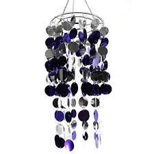 hi elegant purple bling hanging chandelier great idea for wedding home decorations and any event party decor 8 7 x 18 1