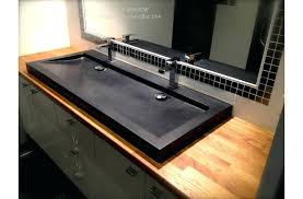 trough bathroom sink black granite double bathroom trough sink shadow undermount trough bathroom sink with two