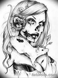чикано тату эскизы девушки 08032019 040 Tattoo Sketches