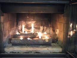 image of fireplace candle holder