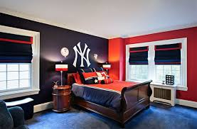 red boys bedroom