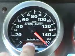 auto meter programmable electric speedometer