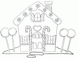 Small Picture Gingerbread House Coloring Page Coloring Home