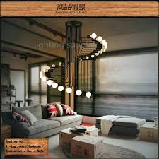 drop lighting fixtures. Drop Light Fixtures High Ceiling Loft Modern Pendant Iron Minimalist Spiral Staircase Lamp Lighting