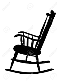 rocking chair clipart. Vintage Rocking Chair Stencil - Left Side Stock Vector 15560026 Clipart