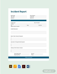 Free 18 Incident Report Examples Samples In Pdf Doc