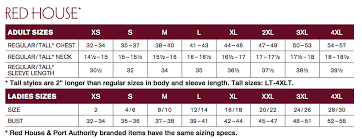 House Size Chart Size Chart