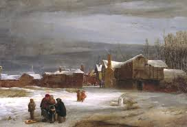 A Snow Scene Attributed To William Mulready Tate