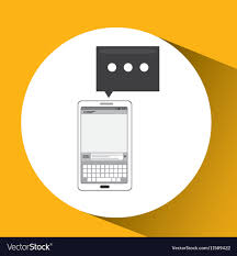 Mobile Cellphone Email Texting Icon Royalty Free Vector