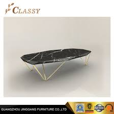 living room furniture black marble coffee table for home use