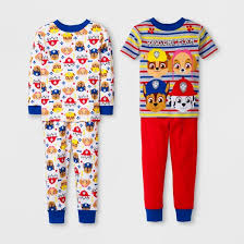 pajamas robes toddler boys clothing target toddler boys paw patrol 4pc cotton pajama set