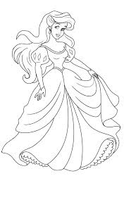 Small Picture Princess Ariel on Her Wedding Day Princesses Coloring Pages