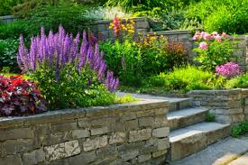 Small Picture Stone retaining wall design and installation in Barrie Ontario