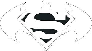 Batman Emblem Template Vs Superman Logo Ready Design Super Heroes