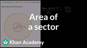 Area Of A Sector Video Sectors Khan Academy