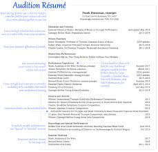 Resume Music Résumé And CV Office Of Careers And Professional Development 1
