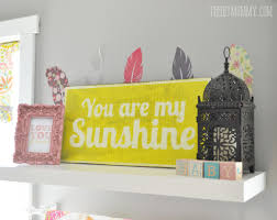 how to make a diy rustic wooden sign such a cute you are my sunshine