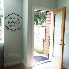 Door Vinyl Design Home Sweet Home Quote Decal Home Decoration Door Rustic Cottage Wall Stickers Vinyl Creative Design Family House Decor Wall Decals Home Wall Decals
