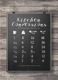 Kitchen Conversion Chart Decor Kitchen Conversions Conversion Chart Printable Kitchen