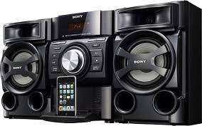 sound system sony. sony - refurbished 100w mini hi-fi stereo system sound