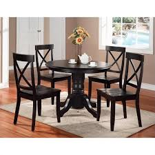 home styles 5 piece black pedestal dining table set