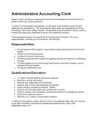 Accounting Cover Letters Magnificent Medium To Large Size Of Templates Data Entry Clerk Job Description