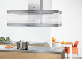 Kitchen  Modern Island Kitchen Hood With Rectangle Stainless - Vent hoods for kitchens