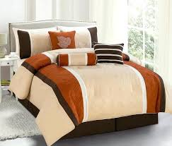 burnt orange bedding bright orange comforter sets