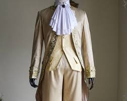 Victorian 18th Century Masquerade Fancy Dress Handmade Man Outfit Suit  Costume